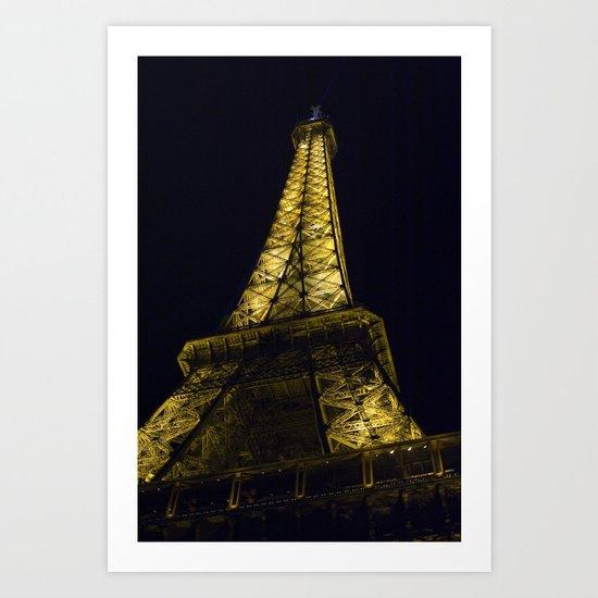 Eiffel Tower @ Night Art Print