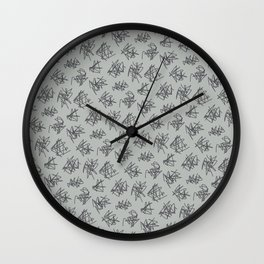 Scribble Pattern Wall Clock