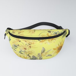 Vintage & Shabby Chic - Yellow Summer Flowers Fanny Pack