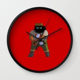 Chainsaw guy Wall Clock