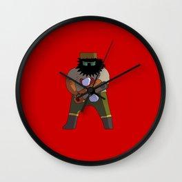 Chainsaw guy Wall Clock