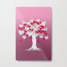 tree of love with hearts Metal Print