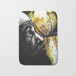 Basketballer LBJ Bath Mat