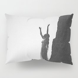 Incantation, A Goddess, mountain - canyon female form black and white photography by Anne Brigman  Pillow Sham