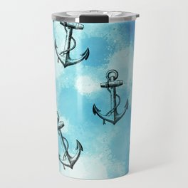 Anchor blue Travel Mug