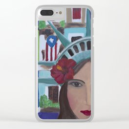 Julia de Burgos en San Juan, Puerto Rico Clear iPhone Case