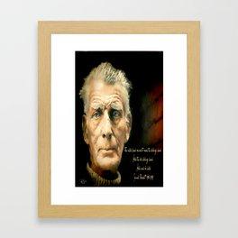 Samuel Beckett - Hold and be held Framed Art Print
