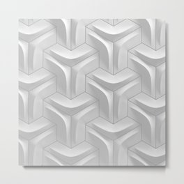 hexagonal tile closeup Metal Print