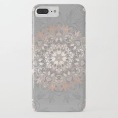 Rose Gold Gray Floral Mandala iPhone 7 Plus Slim Case