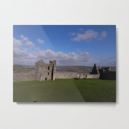 Llansteffan Castle - Carmarthenshire, Wales - Series Metal Print