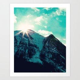 Mountain Starburst Art Print