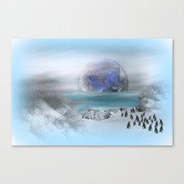 world of ice Canvas Print