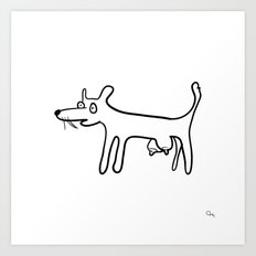 Tit-Dog Art Print
