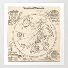 Albrecht Dürer - The Southern Celestial Hemisphere (1515) Art Print