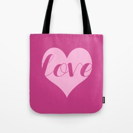 Love in a heart  Tote Bag