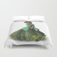parks Duvet Covers featuring Princess Rosa Parks (Trumble Cartoon) by Trumble Art (David Trumble, Cartoonist a