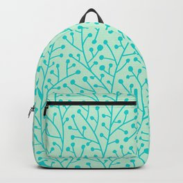 Berry Branches – Mint & Turquoise Palette Backpack