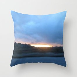 Drive down the coast Throw Pillow