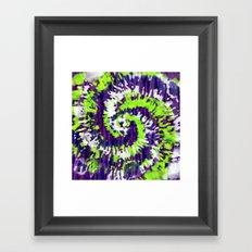 Purple-Blue-Green Tie Dye Framed Art Print