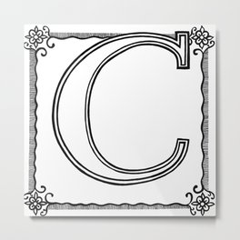 C is for CUNT Metal Print