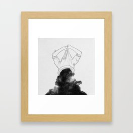 Its better to disappear. Framed Art Print