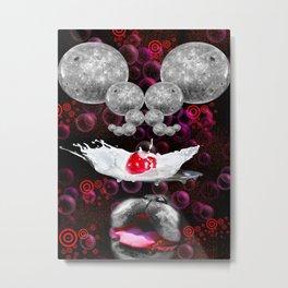 Lapping At Moon Cream Metal Print