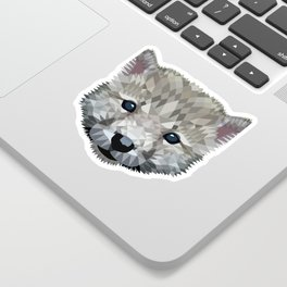 Baby wolf color blocking Sticker