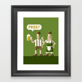 Bavarian Pixel Framed Art Print