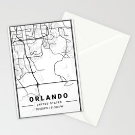 Orlando Light City Map Stationery Cards