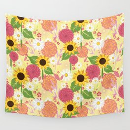 Summer Sunflower Wall Tapestry