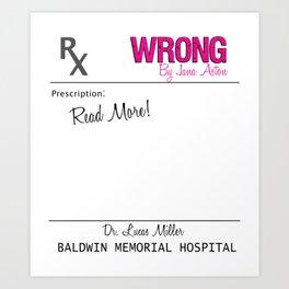 Prescription Pad Art Print