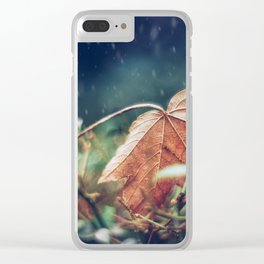 When Autumn meets Winter. Clear iPhone Case