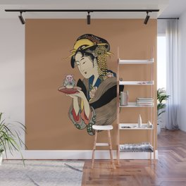 Tea Time with Pig Wall Mural