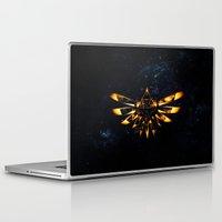 targaryen Laptop & iPad Skins featuring Zelda Triforce Red Flame by aleha