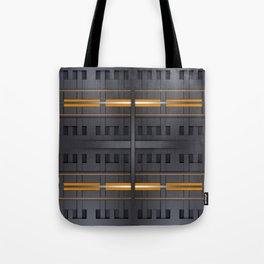 Black Metal Wicker Pattern Tote Bag