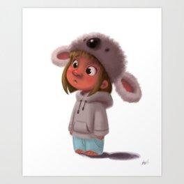 Koala Girl  Art Print