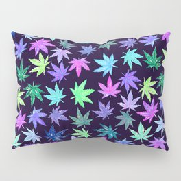 Blue Hempy Leaves Pillow Sham