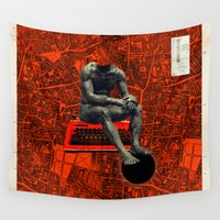 boxer Wall Tapestries featuring Boxer by Frank Moth