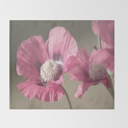Poppies at Nature Throw Blanket