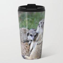 meerkats in the savannah Travel Mug