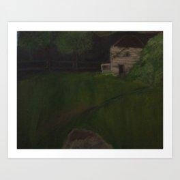 Little Meadow at Night Art Print