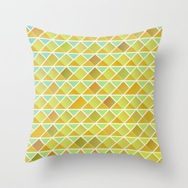 Tiny triangles pattern Throw Pillow