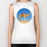 camel Biker Tanks featuring Camel by Chantal Seigneurgens