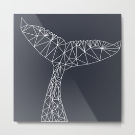 Interconnected Whale Metal Print
