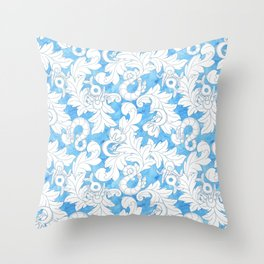 You and Me_ Blue Lines Throw Pillow