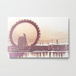 London Eye and The Southbank Metal Print