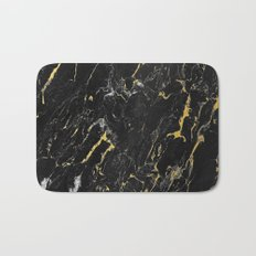 Gold Flecked Black Marble Bath Mat