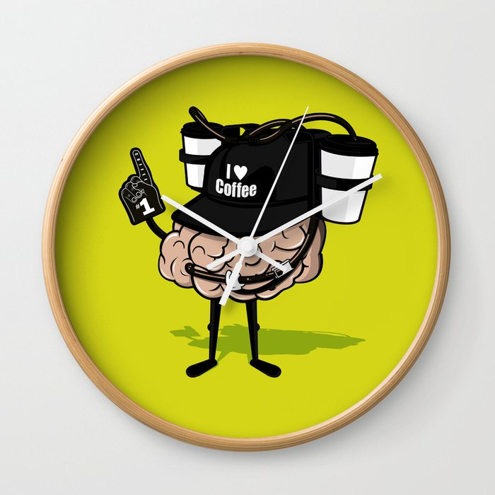 He loves coffee a lot!!!! Wall Clock