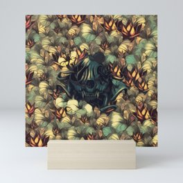 The skull, the flowers and the Snail Warm Mini Art Print
