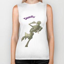 Skeleton purple Biker Tank